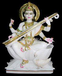 White Marble Saraswati Maa