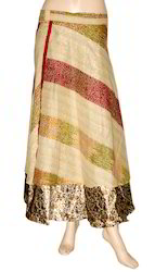 Jaipuri Silk Wrap Around Skirt