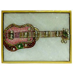 Marble Guitar Painting