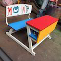 Dual Desk Z Model With Printed Laminated Back Colourful