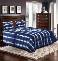 Indian Throw Shibori Print Bedspread Bed Cover