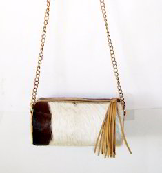 New Hair Leather Sling Bag