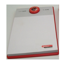 Printed Pad with Dome Logo Sticker