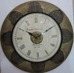 Brass Design Wooden Wall Clocks