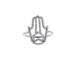 Pave Diamond Hamsa Ring