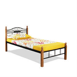 Wooden Post Single Bed
