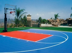 Sports court maker squash court manufacturer from mumbai for Making a basketball court