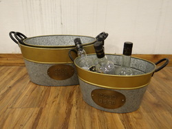 Galvanized Storage Bucket