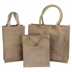 Oval Handle Jute Shopping Bags
