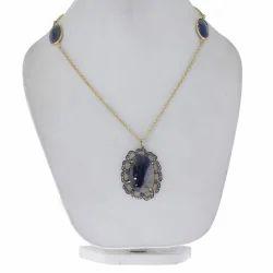 Diamond Sapphire Oval Rings