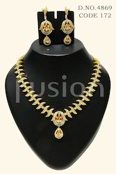 Traditional Antique American Diamond Necklace Set