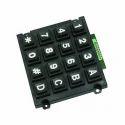 Black 4x4 Telephone Keypad