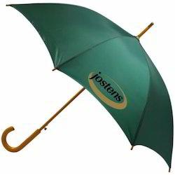 J Shape Wooden Handle Auto Open Umbrella