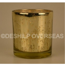 Silver Eatching Candle Votive