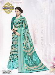 Fancy Satin Printed Saree