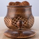 Wooden Tobacco Jar