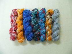 Multi Colored And Solid Colored Banana Silk Yarn