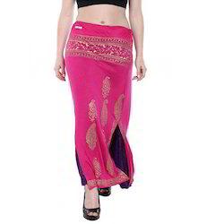 Ira-Soleil-Pink-Purple-Reversable-2-Sided-Long-Skirt