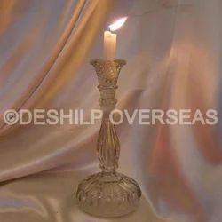 Clear Cutting Pillar Candle Holder