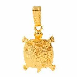 Brass Kachua (Tortoise) Sri Yantra Pendant for Unisex