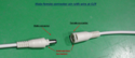 LED DC Connector With Twisting Male Female White Round Cable
