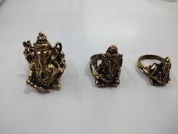 Brass Ganesha Ring