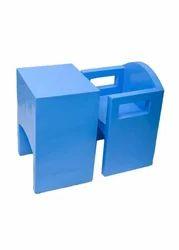Beautiful Single Seater Blue Study Benches - Set