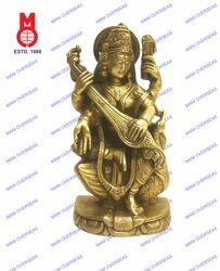 Goddess Saraswati Sitting On Swan Statue