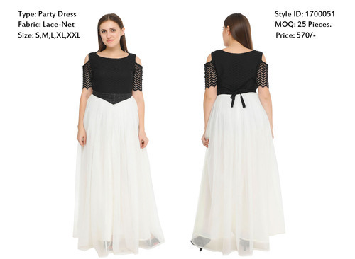 05bc882c3 Ladies Maxi Dresses - Party Wear Lace Dresses Manufacturer from New ...