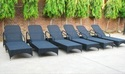 Aluminum Wicker Poolside Lounger