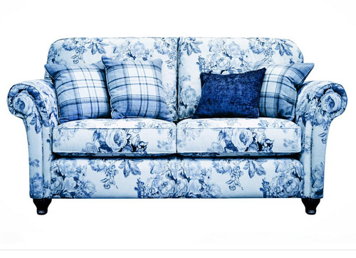 Attirant Blue Color English Sofa