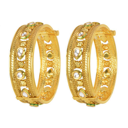 Antique Gold Plated 2 Pc Openable Bangles