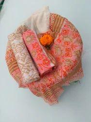 Cotton With Pure Chiffon Dupatta Suits