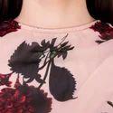 Rose Midi Dress For Ladies