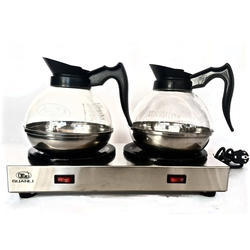 Double Hot Plate Tea, Coffee, Milk Carafe