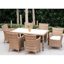 Cane Wicker Dining Set