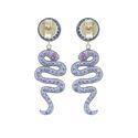 Snake Ruby Eyes Gemstone Earrings