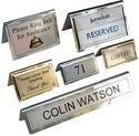 Table Metal Signs