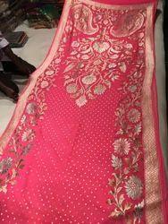 Pure Chiffon Heavy Zari Silk Saree