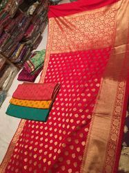 Pure Katan Chanderi Silk Saree