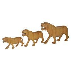 Wooden Plain Lion