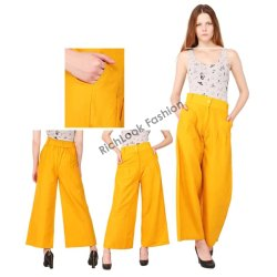 Regular Fit Women's Palazzo Pants For Girls