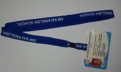 acrylic card holder with lanyard