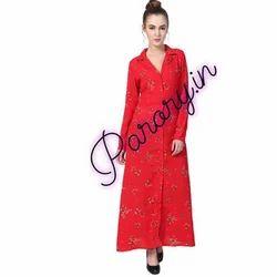 Ladies Red Long Kurti