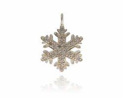 Diamond Gold Snowflake Pendant