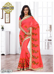 Pure Georgette Designer Saree