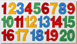 Educational Counting Inset Tray Puzzle