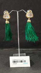 Traditional Kundan Tassel Antique Earrings