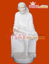 White Marble Lord Saibaba Statue