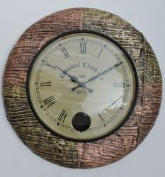 Block Design Sleeper Wood Wall Clocks